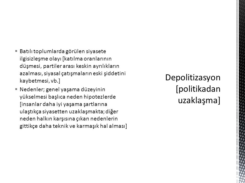 Depolitizasyon [politikadan uzaklaşma]